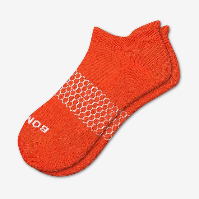 blood-orange Men's Solids Ankle Socks