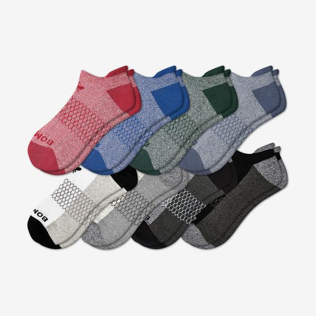 blue-red-green-mix Men's Ankle Sock 8-Pack