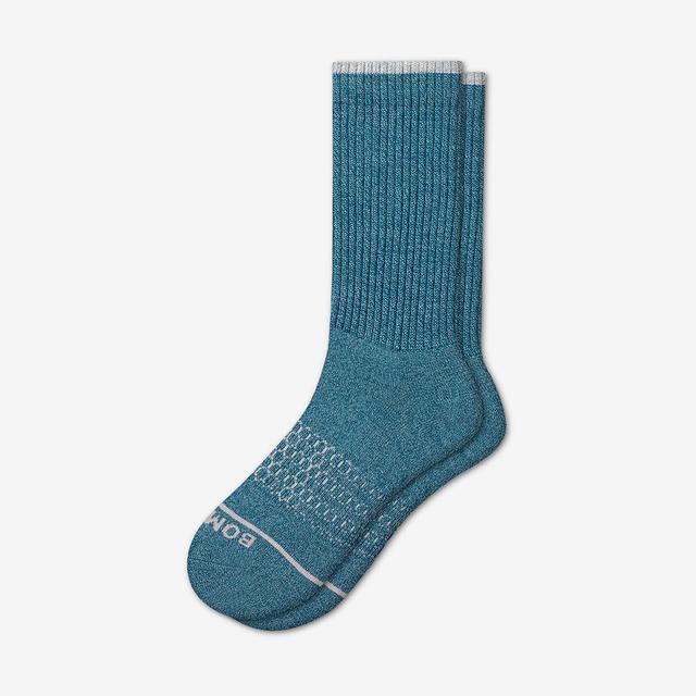 blue Men's Merino Wool Calf Socks