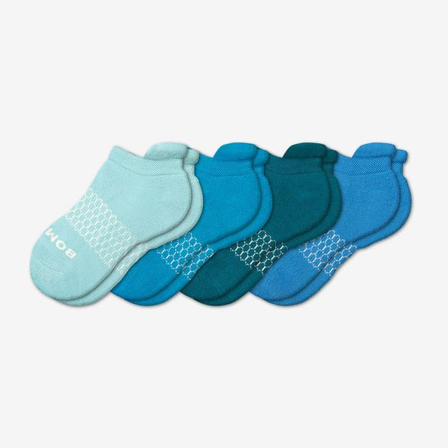 blue-mix Youth Solids Ankle Sock 4-Pack