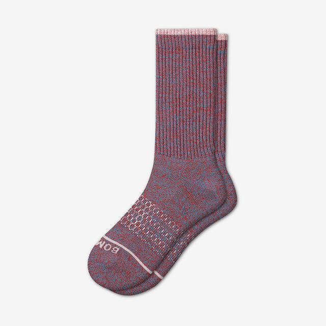 blue-red-multi Men's Merino Wool Calf Socks