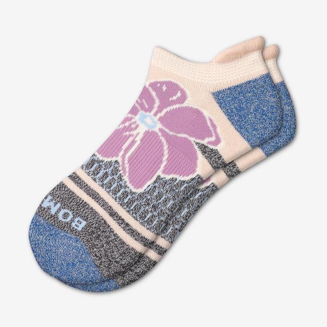 blush-logwood Women's Floral Ankle Socks