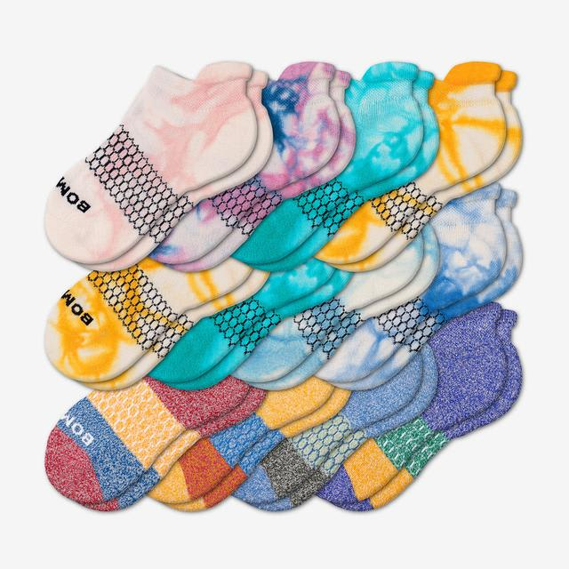 brights-mixed Youth Ankle 12-Pack