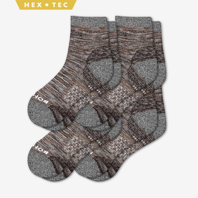 brown Women's Hiking Quarter Sock 4-Pack