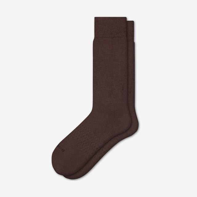 brown Men's Dress Over the Calf Socks