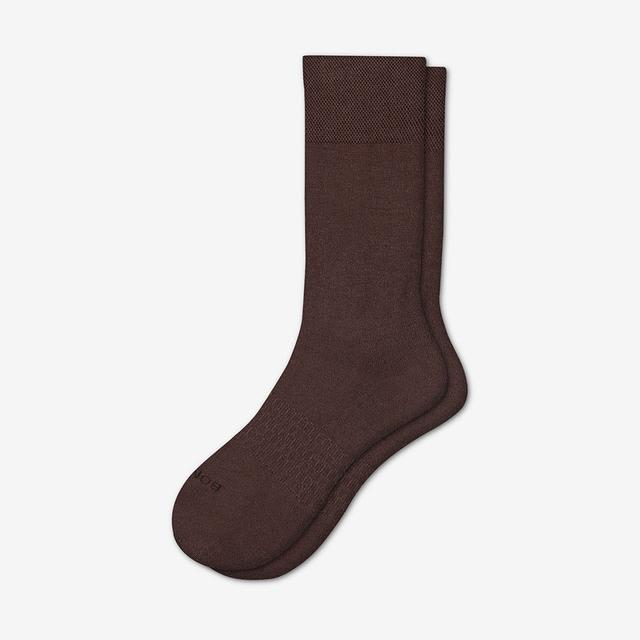 brown Men's Dress Calf Sock