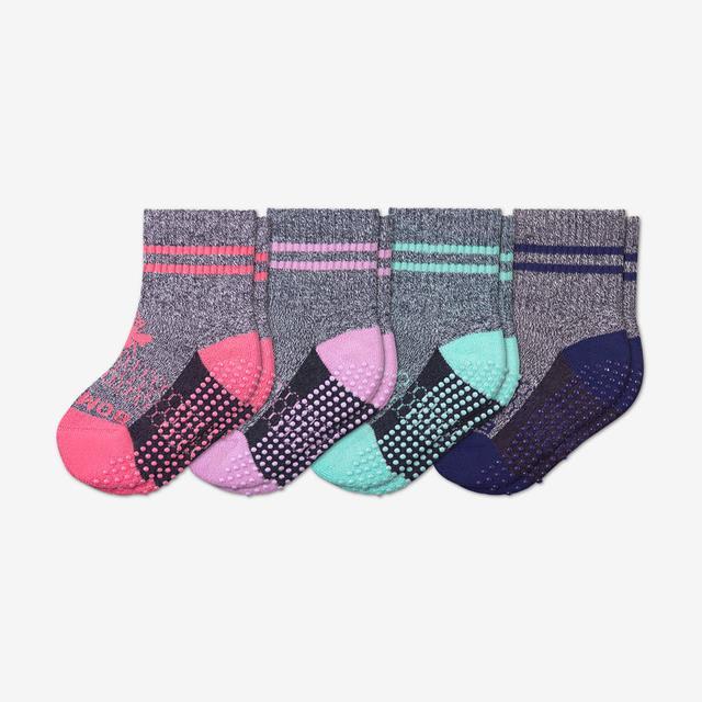 bubblegum-violet-sky-astral-blue Toddler Gripper Calf Sock 4-Pack
