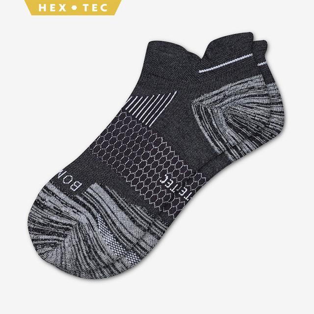 charcoal Men's Performance Running Ankle Socks