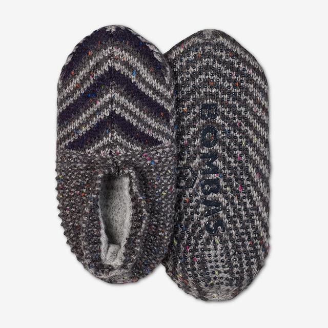 charcoal-multi Youth Gripper Slipper