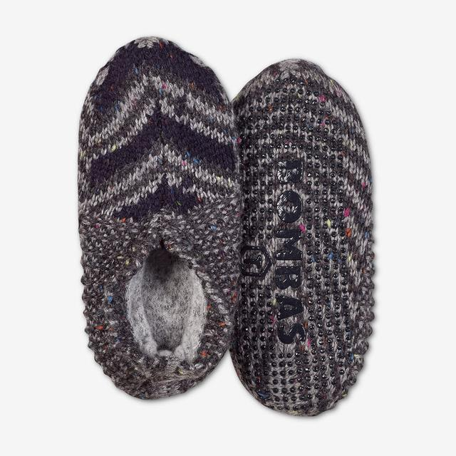 charcoal-multi Toddler Gripper Slipper