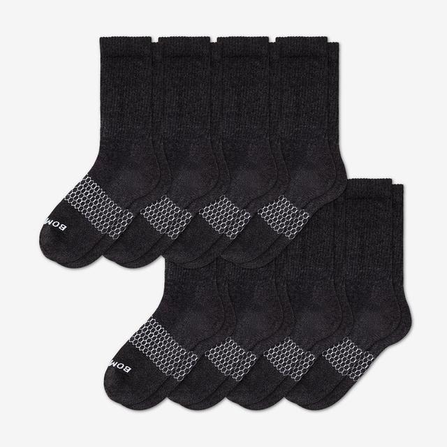 dark-charcoal-heather Men's Calf Sock 8-Pack