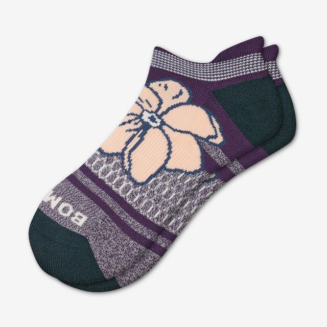 dark-fig-blush Women's Floral Ankle Socks