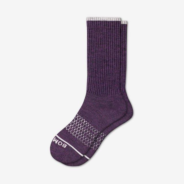 dark-fig Men's Merino Wool Calf Socks