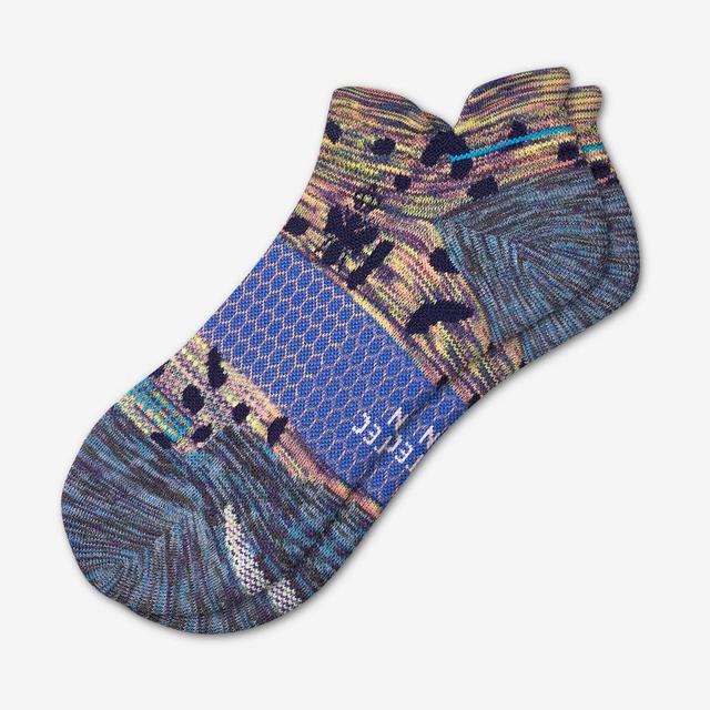 dark-lilac Men's Performance Running Ankle Socks