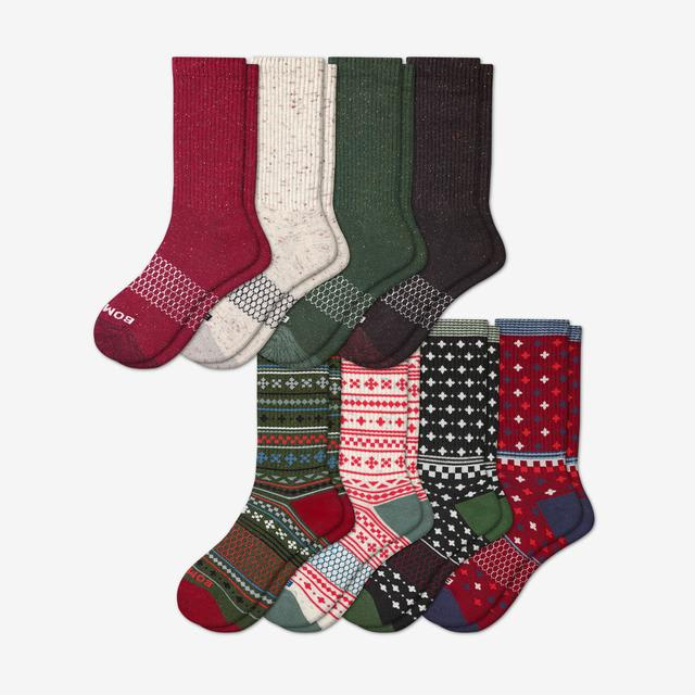 donegal-holiday-mix Men's Calf Sock 8-Pack