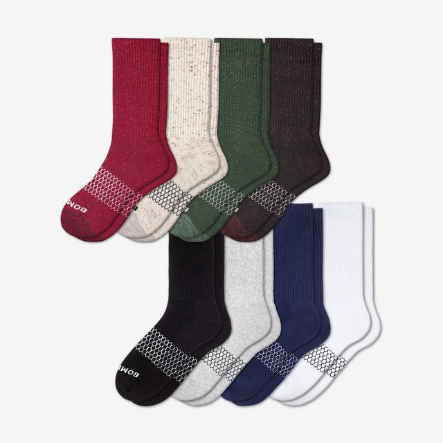 donegal-solids-mix Men's Calf Sock 8-Pack
