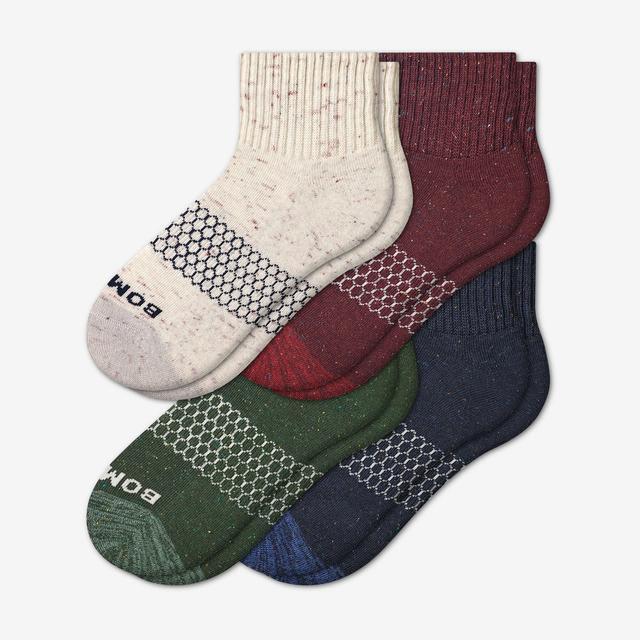 elm-plum-mix Women's Donegal Quarter Sock 4-Pack