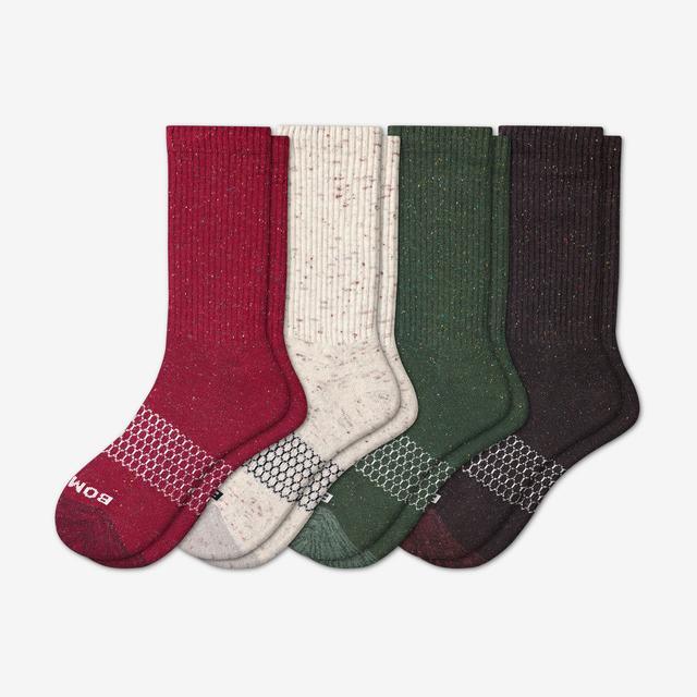 elm-plum-mix Women's Donegal Calf Sock 4-Pack
