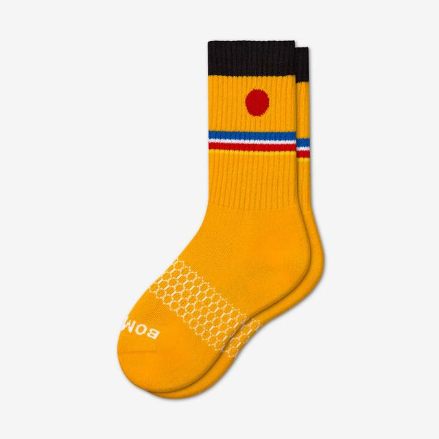 ernie-orange Youth Sesame Street Ernie Calf Socks