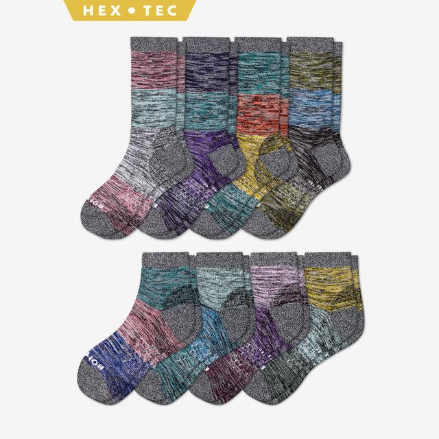 fall-mix Women's Hiking Calf & Quarter Sock 8-Pack