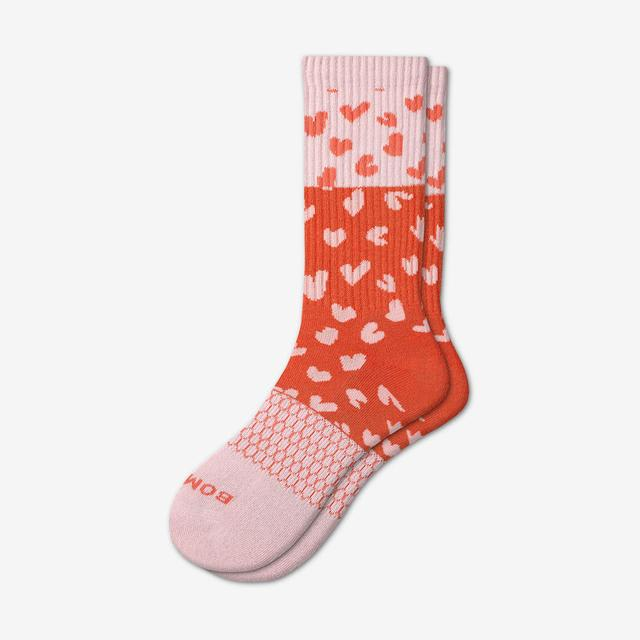 flamingo Heart And Sole Calf Socks