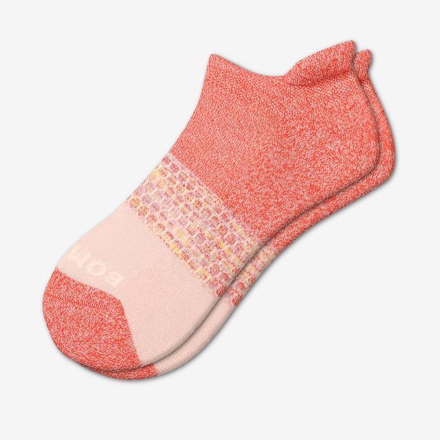 flamingo Women's Tri-Block Ankle Socks