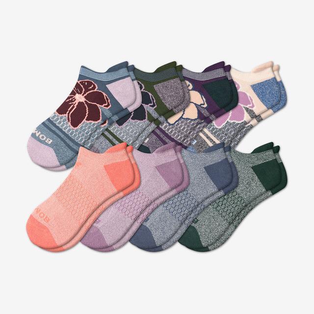 florals-originals-mix Women's Ankle Sock 8-Pack