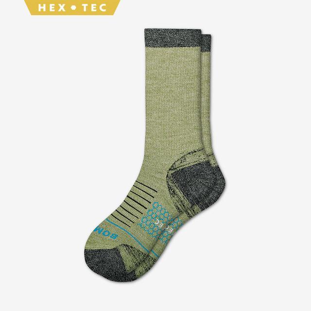 green Women's Performance Merino Hiking Calf Socks