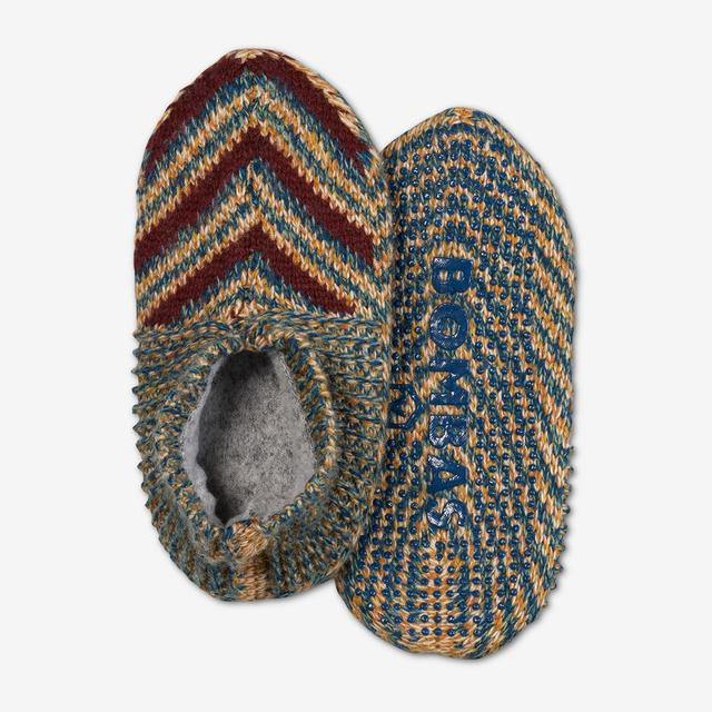 green-multi Youth Gripper Slipper