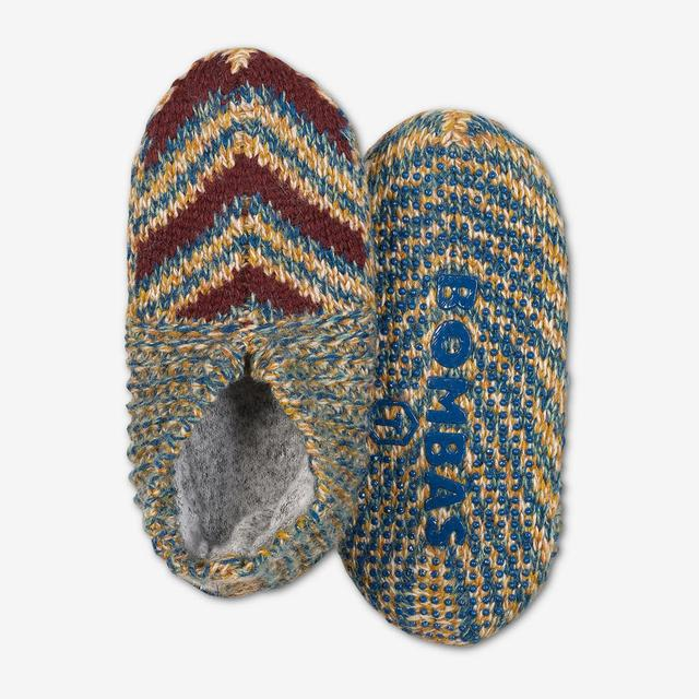 green-multi Toddler Gripper Slipper
