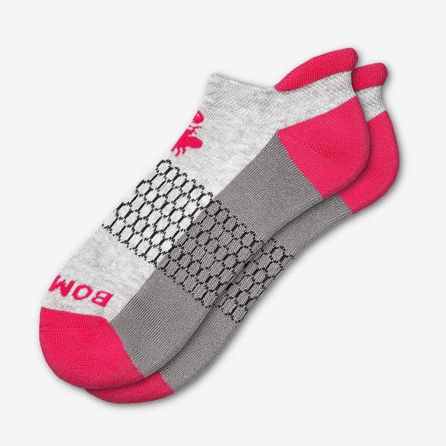grey-and-hot-pink Women's Original Ankle Socks