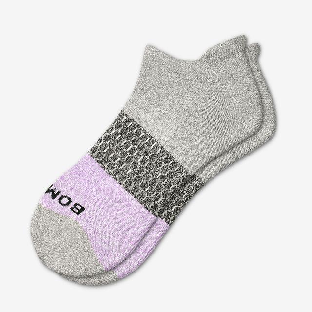 grey-lavender Women's Tri-Block Ankle Socks