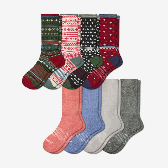 holiday-marls-mix Men's Calf Sock 8-Pack