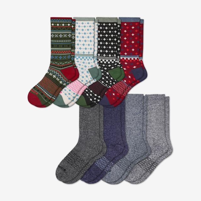 holiday-marls-mix Women's Calf Sock 8-Pack