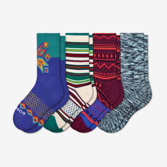 holiday-mix Youth Holiday Calf Sock 4-Pack