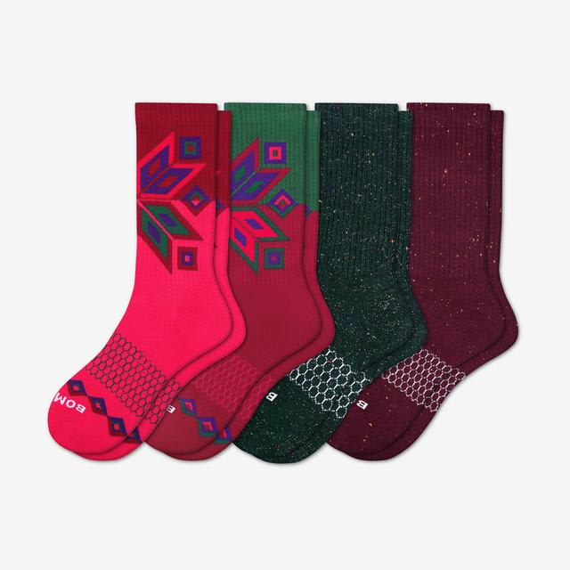 holiday-mix Women's Holiday Calf Sock 4-Pack
