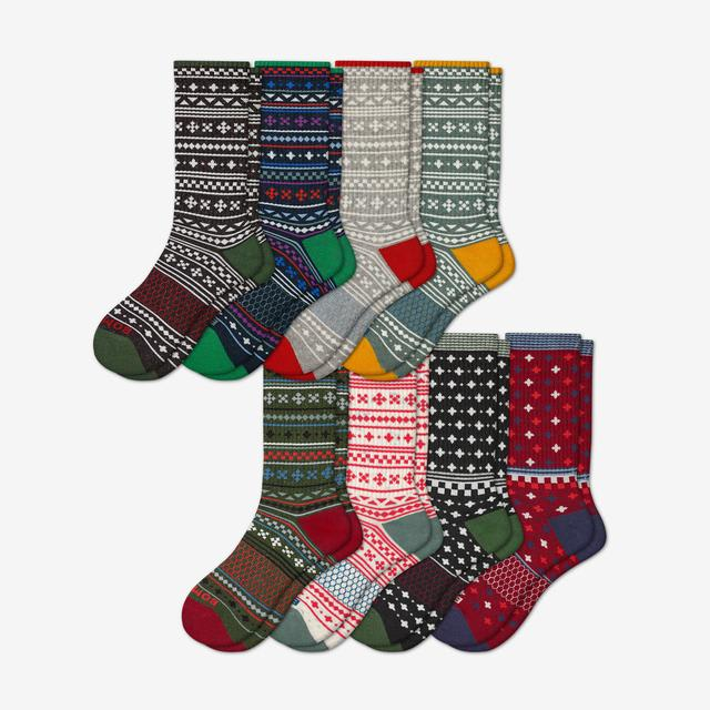 holiday-mix Men's Calf Sock 8-Pack