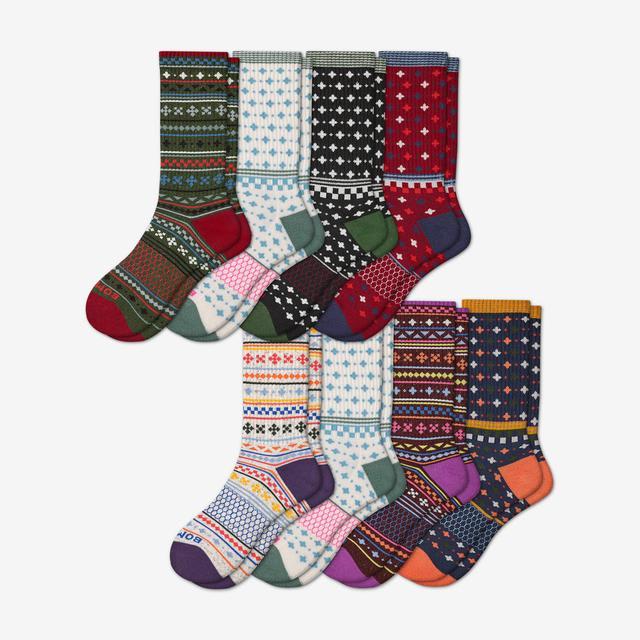 holiday-mix Women's Calf Sock 8-Pack