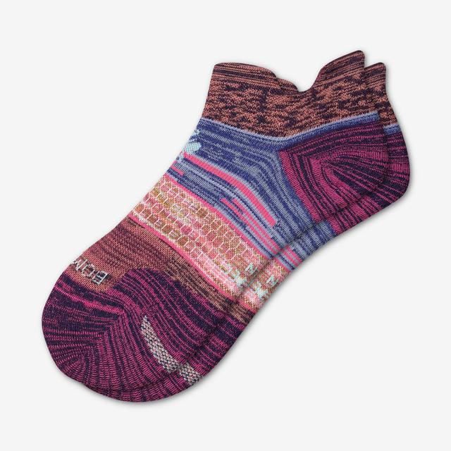 indigo-neon Women's Performance Running Ankle Socks