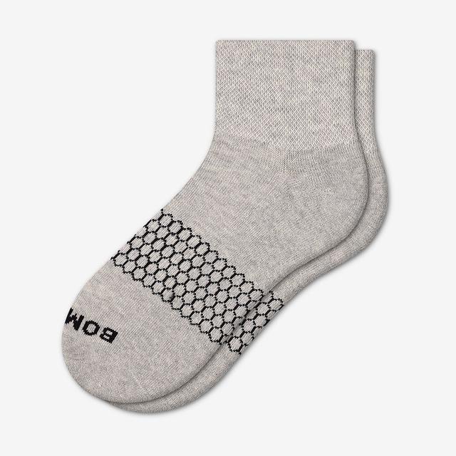 light-grey Men's Piqué Quarter Socks