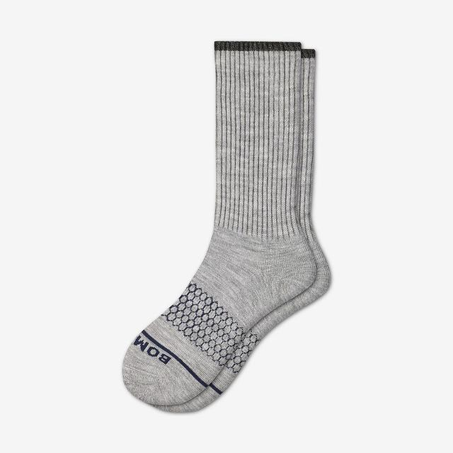 light-grey-heather Men's Merino Wool Calf Socks