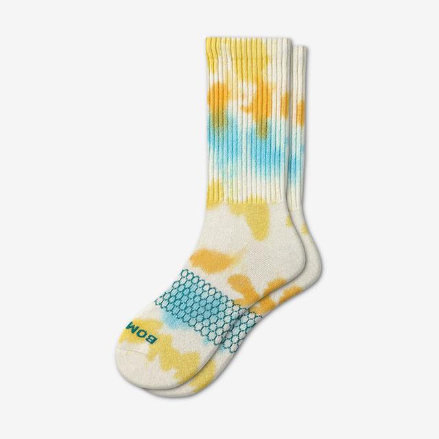 marigold Women's Tie Dye Calf Socks