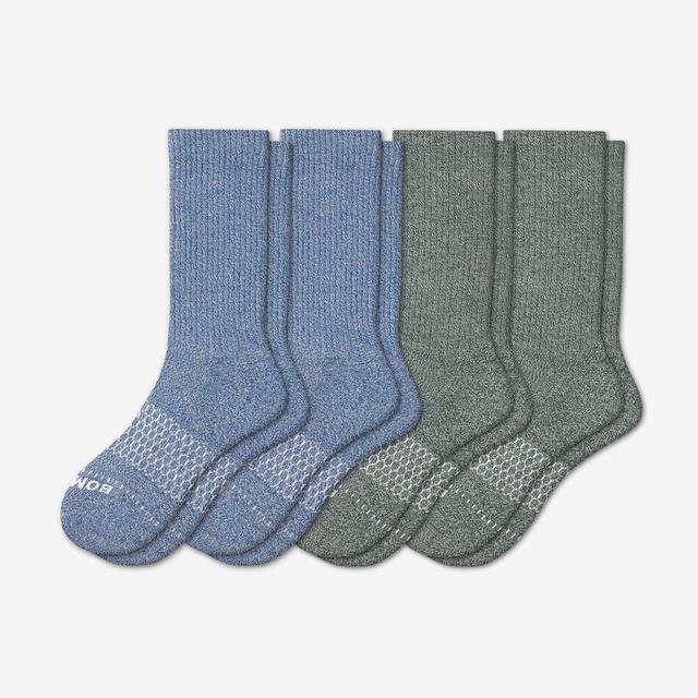 marl-mix Men's Wide Calf Sock 4-Pack