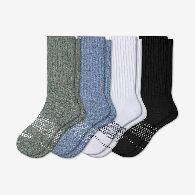 marls-solids-mix Men's Wide Calf Sock 4-Pack
