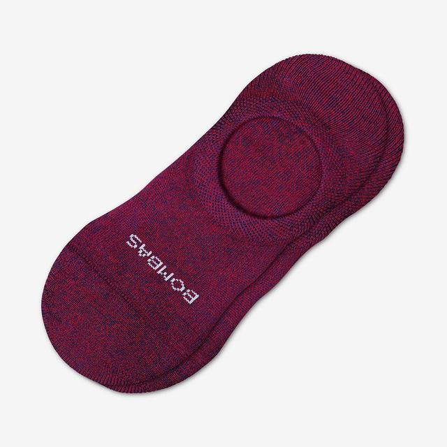 maroon-astral-blue Men's Cushioned No Show Socks