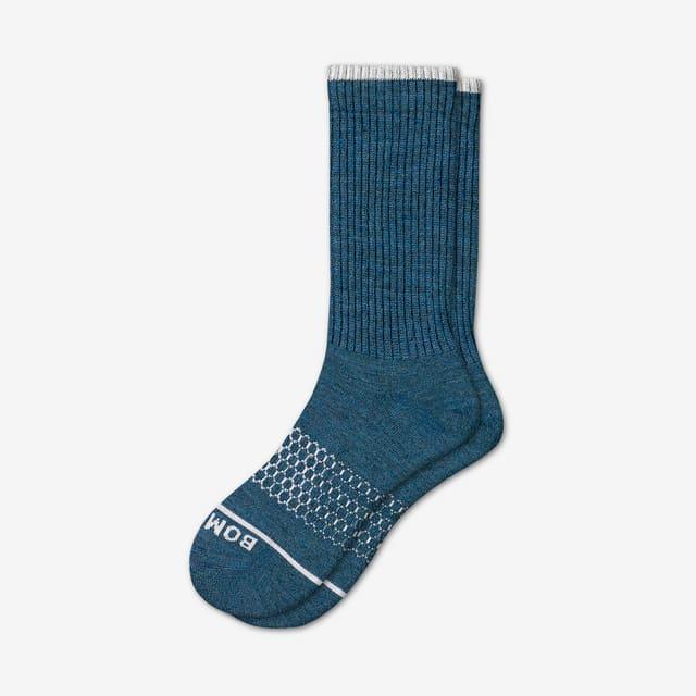 midnight-sea Men's Merino Wool Calf Socks