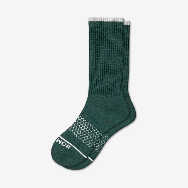 midnight-teal Men's Merino Wool Calf Socks