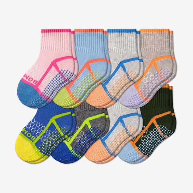 mix Toddler Gripper Calf Sock 8-Pack