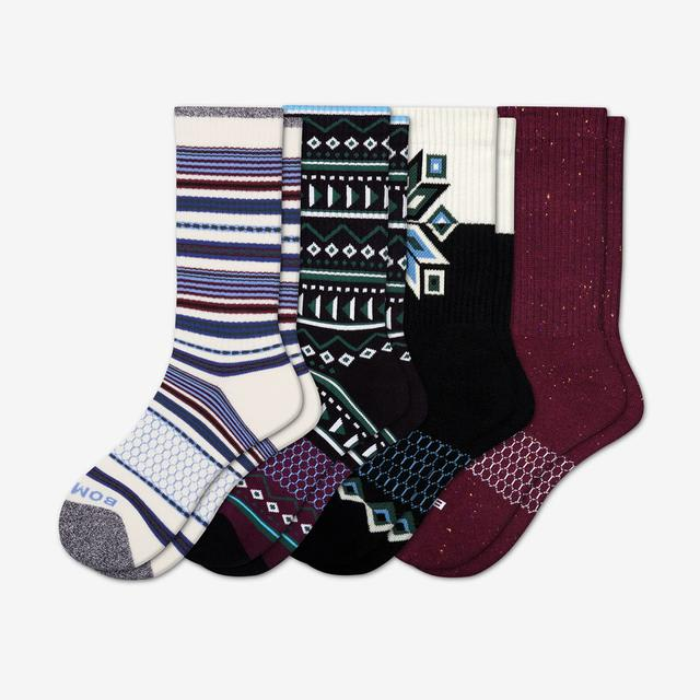 mixed-4 Men's Holiday Calf Sock 4-Pack