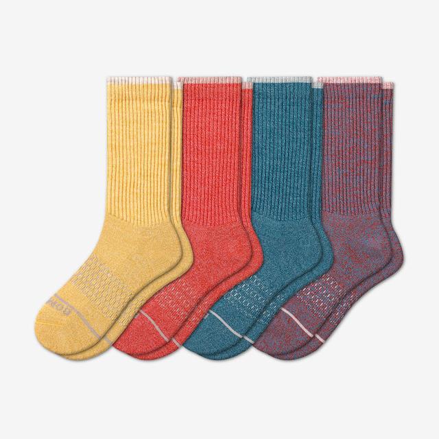 mixed-4 Men's Merino Wool Calf Sock 4-Pack